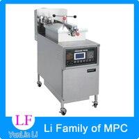 1pc 24L Gas Fryer Computer Control Digital LCD KFC Chicken Oil Pressure Fryer With Oil Pump
