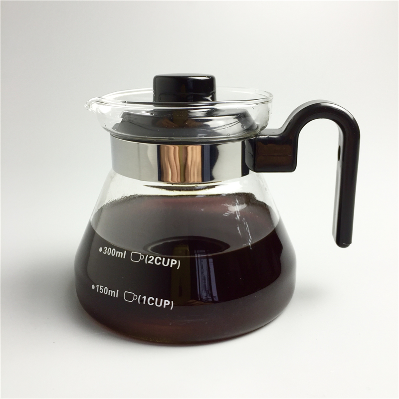 350ml Glass Coffee Pot Teapots Kettle Coffee Server Tools Tea Pot Heat-resistant Glass Can Be Directly Open Flame Heating ...