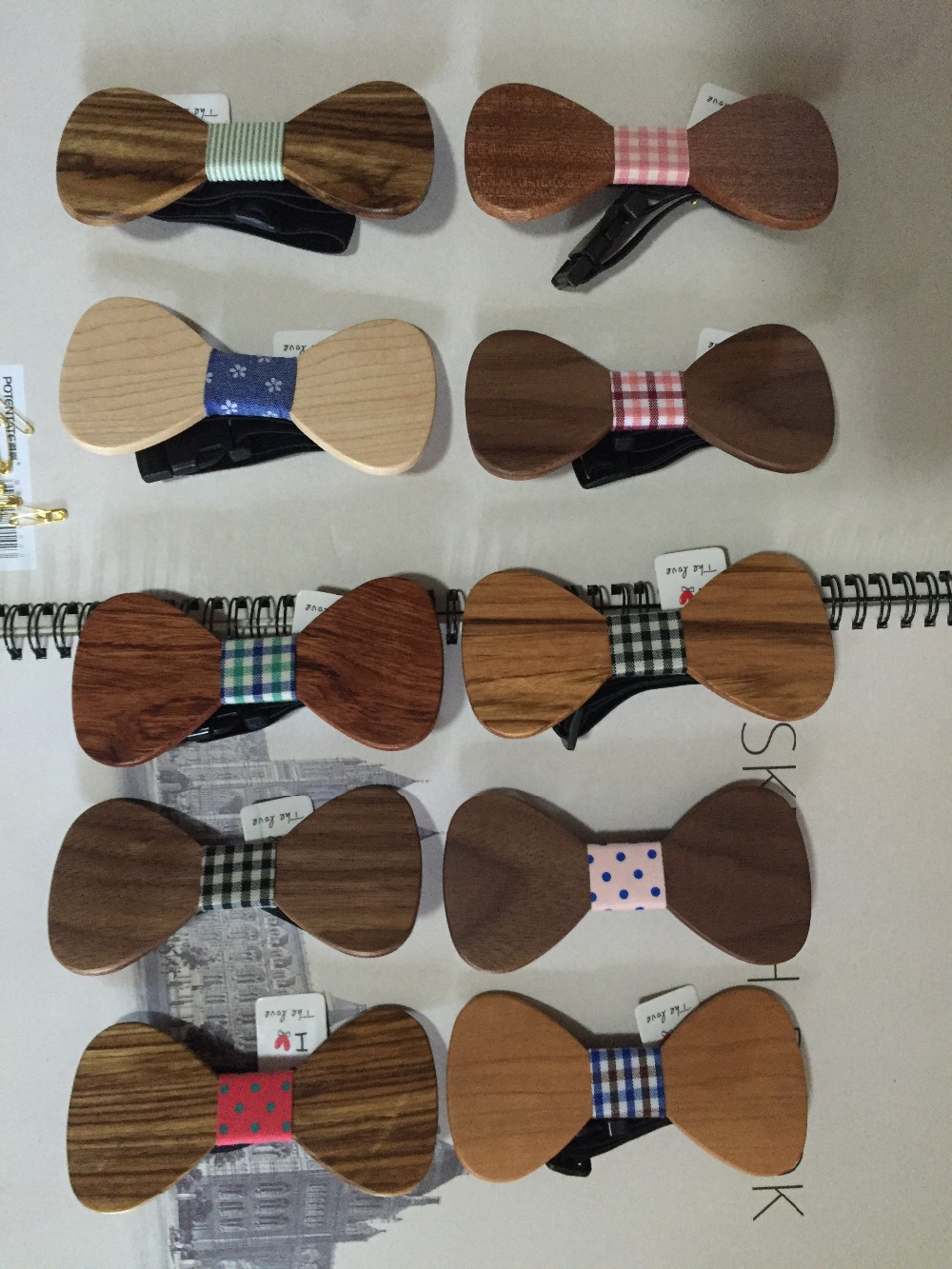 silk neckties Wooden bow tie Christmas gift gift Plaid tie tie high-grade wooden personality bow tie