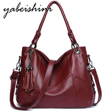 Luxury Handbags Tassel Women Bags Designer Sac A Main Casual Tote Bags Female Leather Handbag  Vintage Shoulder Bag For Women