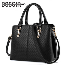 New Arrival Fashion Women Handbags Shoulder Bags PU Leather Solid Black Top-handle Bags Female Messenger Bag Dollar Price