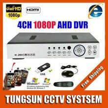 Super New 4CH AHD DVR AHDH HD 1080P Video Recorder CCTV Camera Onvif Network Surveillance 4 Channel IP NVR Multilanguage Alarm