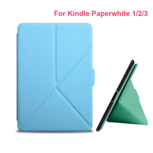 2016 Ultra Slim PU Leather e-Reader Cases For Amazon Kindle Paperwhite Paper White 1 2 3 version Hard Shell Cover e-Book Case