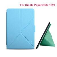 2017 Ultra Slim PU кожи e-читатель Чехол для Amazon Kindle Бумага белый 1 2 3 версии жесткий В виде ракушки крышка E-Book Case