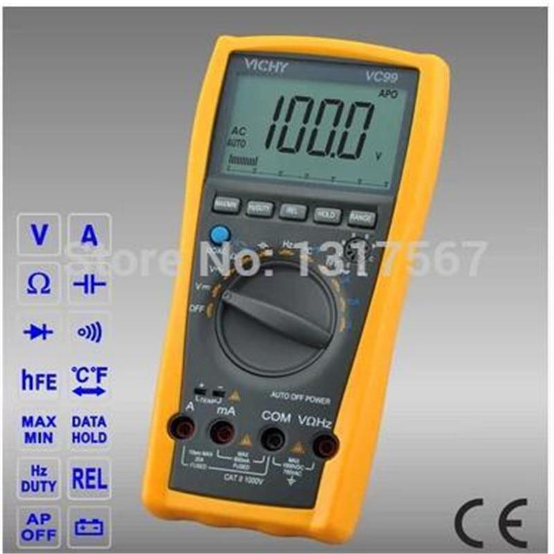 VC99 3 6/7 Auto range digital multimeter with bag bette Original  better FLUKE 17B multimeter voltmeter ammeter  цены