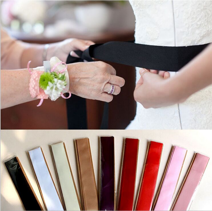 Купить с кэшбэком Special Offer~~All-match Simple Multi-color Grosgrain Ribbon Wedding Belt/DIY Dress Belt 911