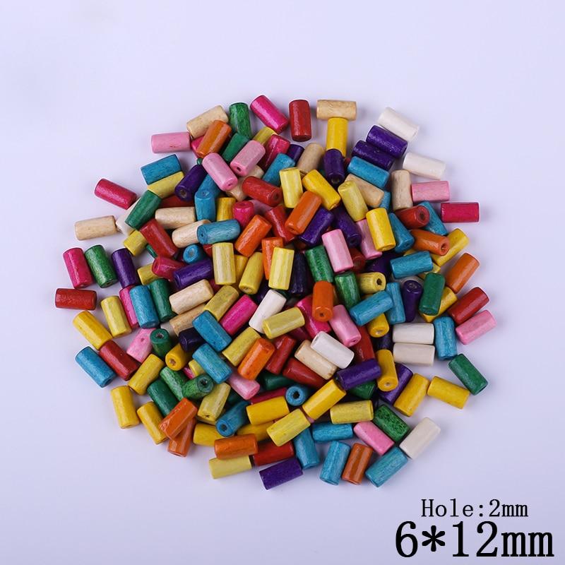 1d6f72878b Moda Nowość! 6mm 12mm Handmade Kolorowe Drewniane Koraliki Niedokończone  Drewna Naturalnego Koraliki Dla DIY Biżuteria Making 300 sztuk partia