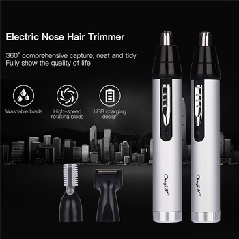 Electric Nose Hair Trimmer Multifunctional Hair Remover Ear Eyebrow Beard Shaver Razor Face Hair Cutter Rechargeable or Battery 3