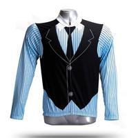 Для мужчин с длинным рукавом Велоспорт Джерси британский стиль зима Велосипедная форма Рубашки для мальчиков