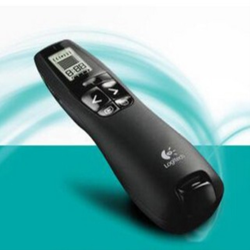 Logitech 2.4Ghz USB R800 wireless remote control page-turning demonstration PPT special pen red laser pen for office led light Зубная щётка