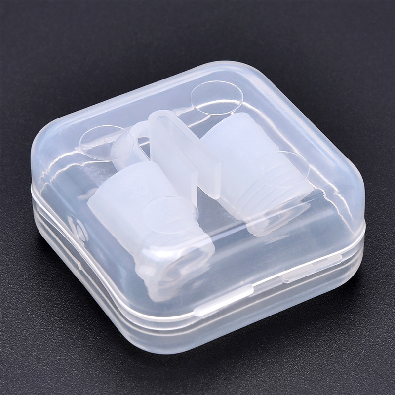 1Pcs Anti Snore Nose Clip Device Stop Snoring Sleeping Aid Equipment Anti-Snoring Breathe Aid With A Box