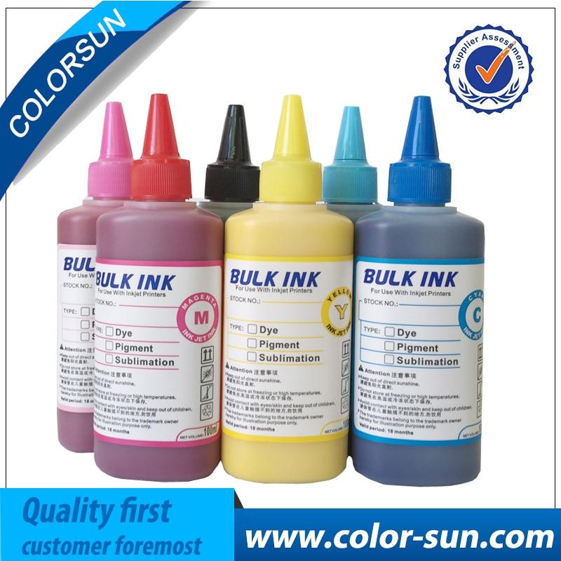 Encre de Sublimation de vente chaude de 6 couleurs pour l'utilisation d'imprimante d'epson pour le T-shirt/coque de téléphone/poterie de céramique/tapis de souris/tasse