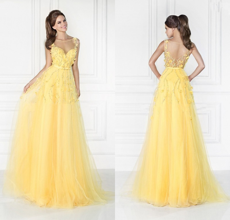 Outstanding Beautiful Yellow Prom Dresses Image - Dress Ideas For ...