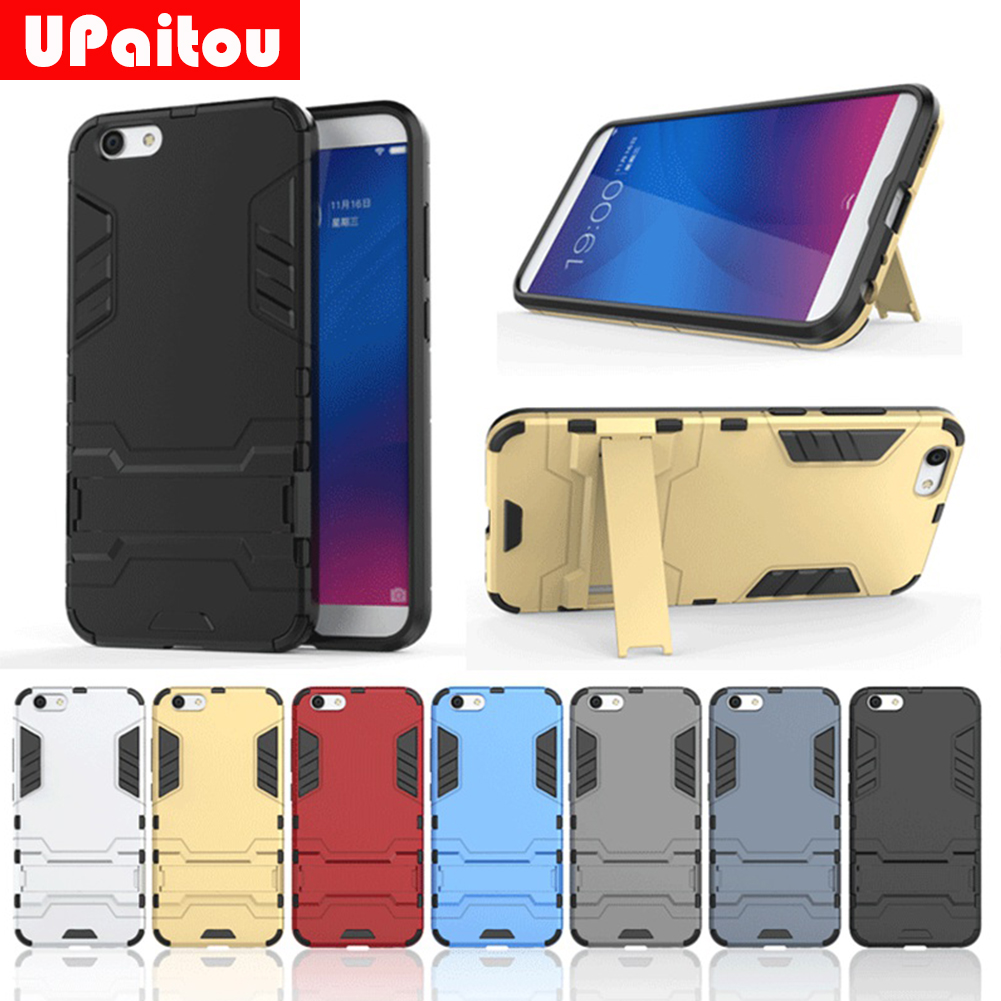UPaitou Case For Vivo Y69 Case Hybrid TPU PC Iron Man Armor Shield Case Holder Stand Cover for Vivo Y69 Cover Case Bag