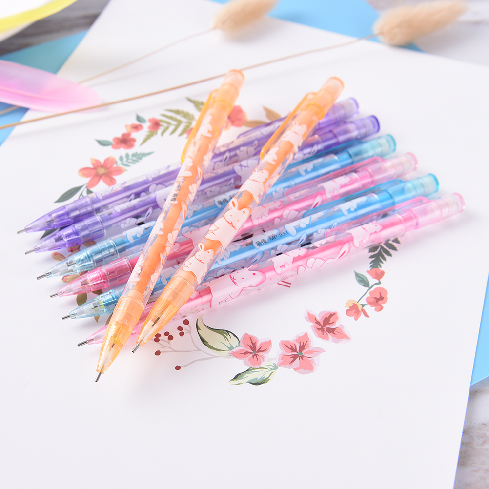 Cute 3PCSLot New 0.50.7MM Cute Kawaii Plastic Mechanical Pencils Lovely Animals Automatic Pen For Kids Korean Stationery