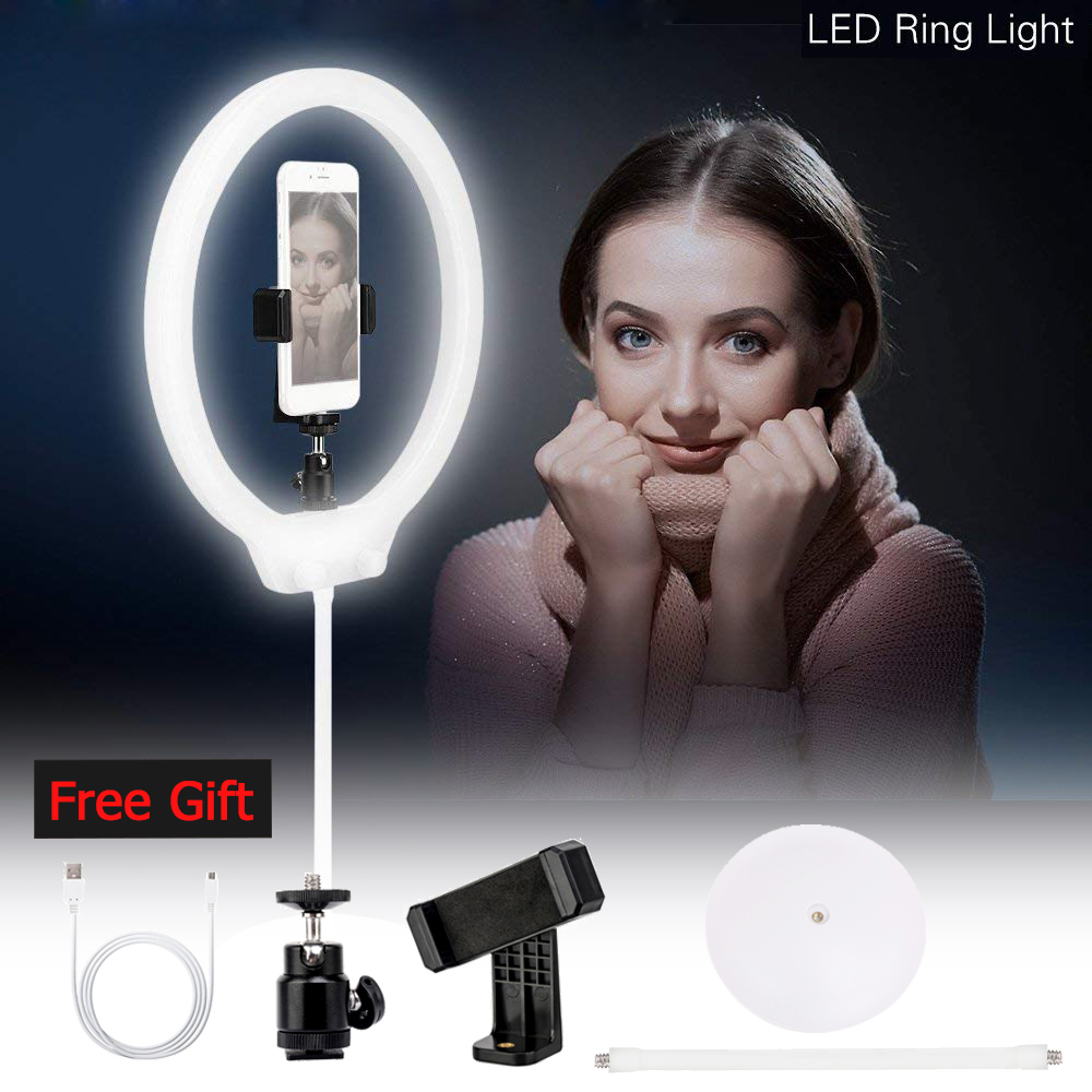 ZM128 LED Selfie Ring Light Bi color Dimmable Makeup Youtube Video Live Studio Light for Canon Camera iPhone X vs YONGNUO YN128