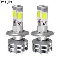 Wljh 2x96 w 13000lm 4 side cob chip h4 led auto koplamp Kit 12 v 24 v Auto Motorcycle Head Light Lamp Hoge Dimlicht Koplamp Bulb