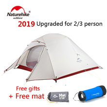 Naturehike Upgraded Cloud Up 2 3 person Ultralight Tent Free Standing 20D Fabric outdoor Camping Tents