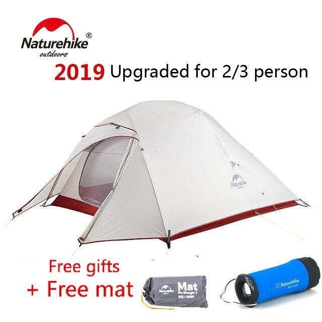 Nature randonnée mise à niveau nuage Up 2 3 personnes tente ultra-légère autoportante 20D tissu extérieur Camping tentes
