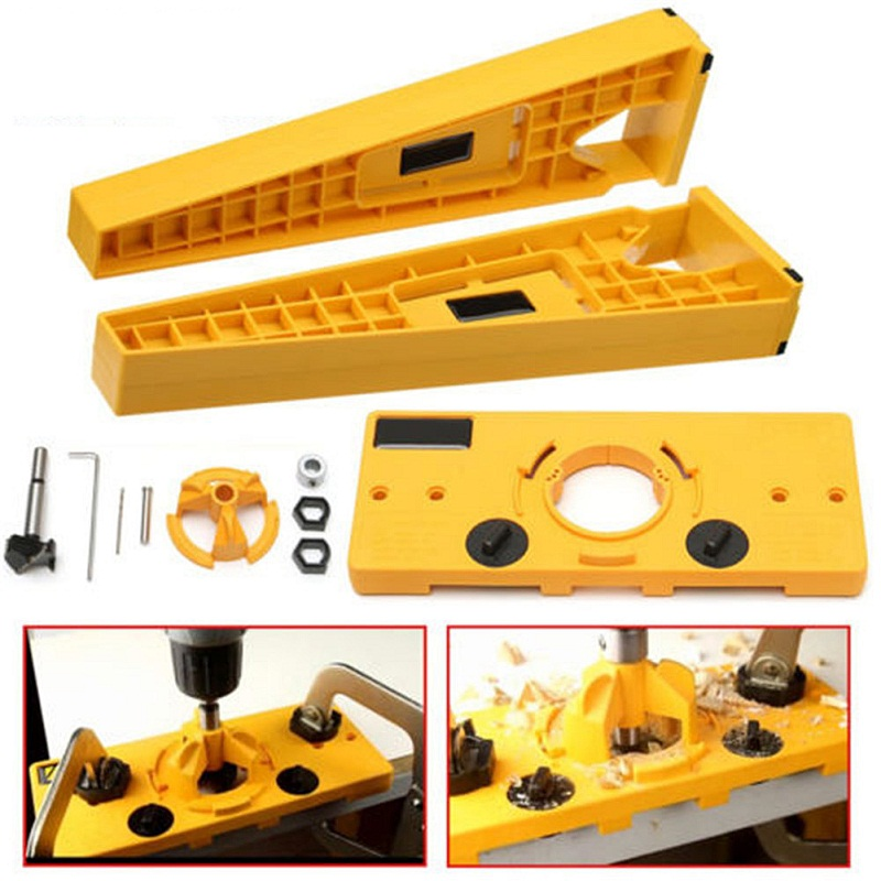 Здесь продается   35mm Cup Style Hinge Hole Drilling Tapper Drawer Installation Accessories Kit DIY Woodworking Tool  Инструменты