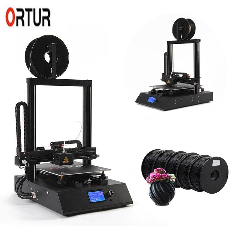 2019 Nova 260*310*305 MILÍMETROS Ortur 4 3D Printing Filament Impressora com Auto Nivelamento Retomar do Sensor Linear trilho de guia de impresora 3d