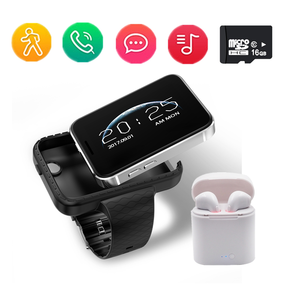 Smart watch i5S rectangle 2 2 inch colorful large screen Mini Car Wide angle Video record