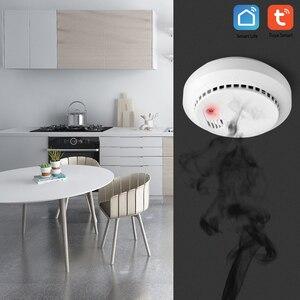 Wifi детектор угарного газа Wifi детектор дыма охранная сигнализация Поддержка для Tuya приложение для умного дома