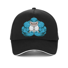 Hot sale Fashion Bodybuilding cap Men women Muscle Sharks Baseball cap Cartoon Dad hat adjustable snapback gorra hombre цена