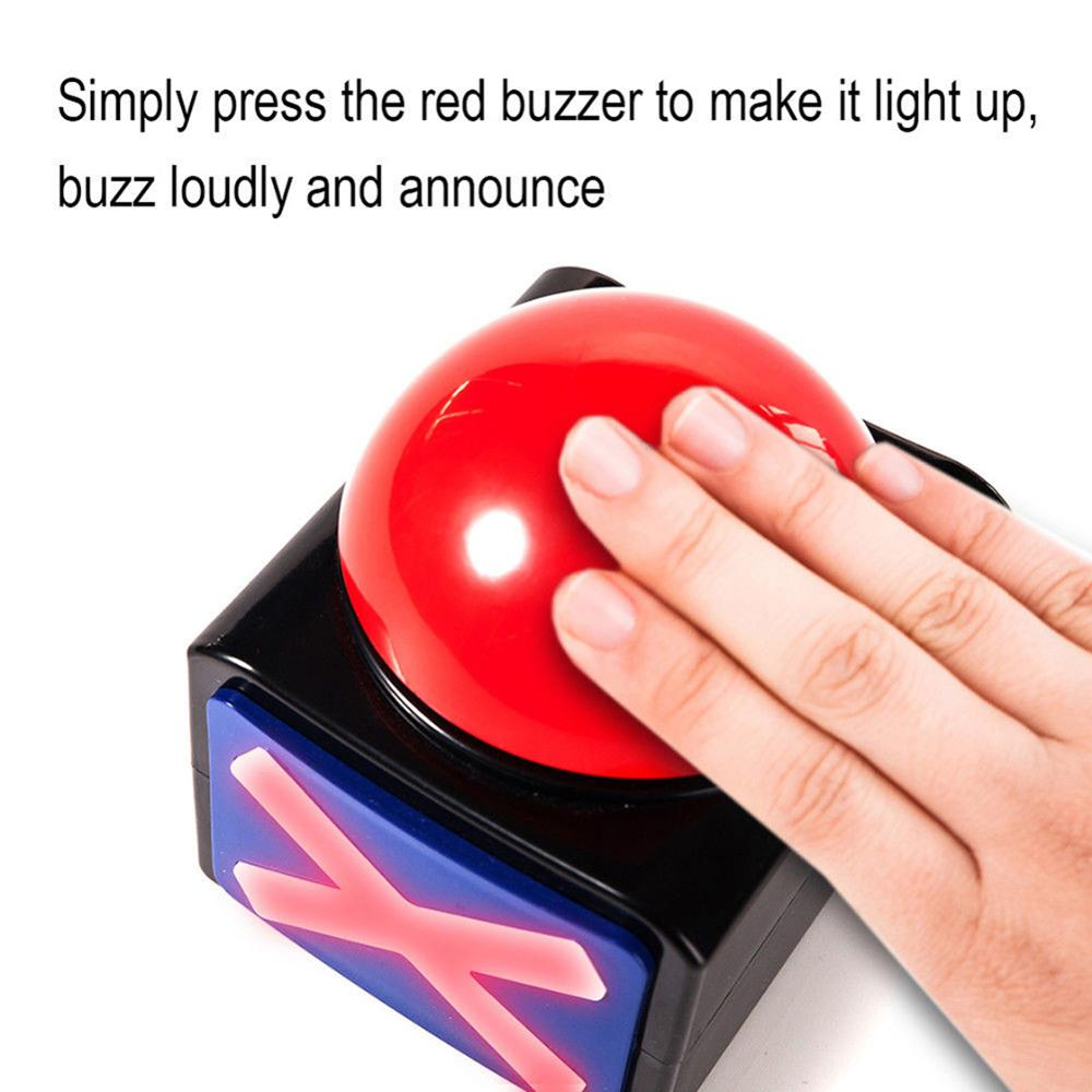 Fun Game Answer Buzzer Alarm Button Box with yes no button Sound Light Stimulating Party Contest Prop Toy