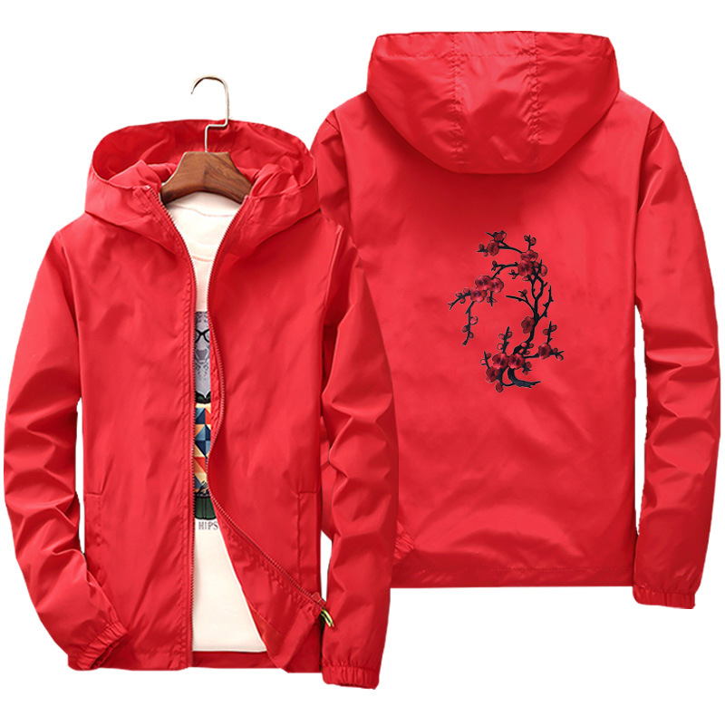 2018 Spring Summer HOODY Anorak Jacket Windbreaker Hip Hop College Student Wind Breaker Jaqueta ...