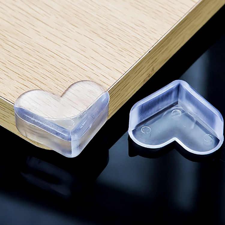 Ángulo de prevención de colisiones tipo Corazón de bebé seguridad infantil tabla protectora transparente almohadilla de esquina ensanchadora, engrosamiento