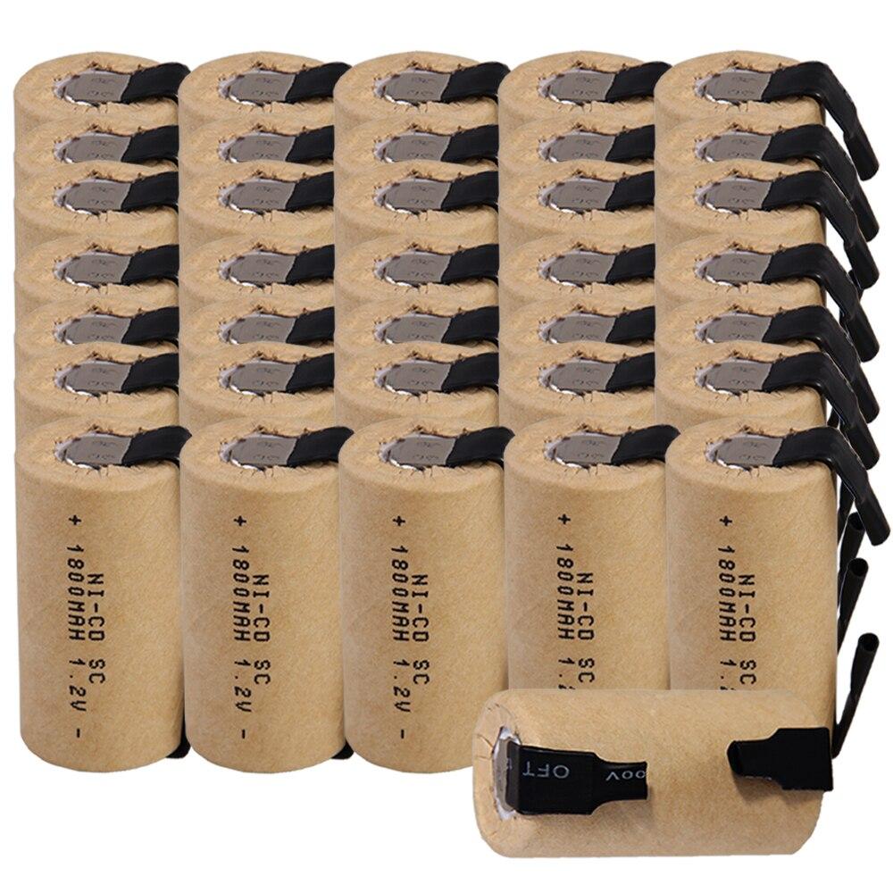 Prix le plus bas 36 pièces SC batterie 1.2 v batteries rechargeables 1800 mAh nicd batterie pour outils électriques akkumulator
