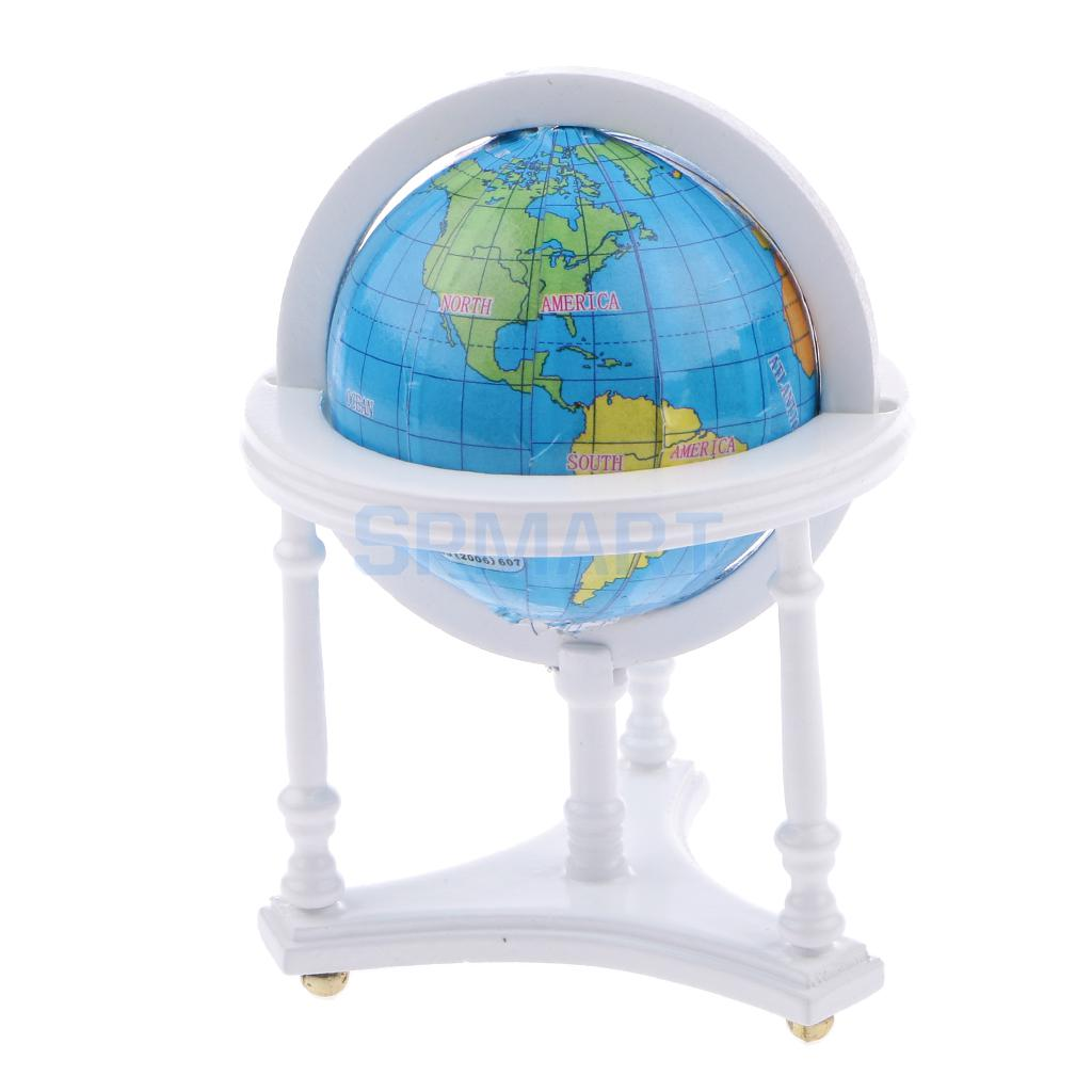 Dollhouse miniature spinning globe of the world map in a white dollhouse miniature spinning globe of the world map in a white wooden stand 12th scale in furniture toys from toys hobbies on aliexpress alibaba gumiabroncs Gallery