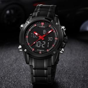 Image 2 - Top mężczyźni zegarki luksusowa marka Naviforce mężczyźni kwarcowy godziny analogowe sport led zegarek mężczyźni armia wojskowy zegarek na rękę Relogio Masculino