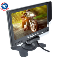 Factory Price Car Monitor 7 Digital Color TFT 16 9 LCD Car Reverse Monitor With 2