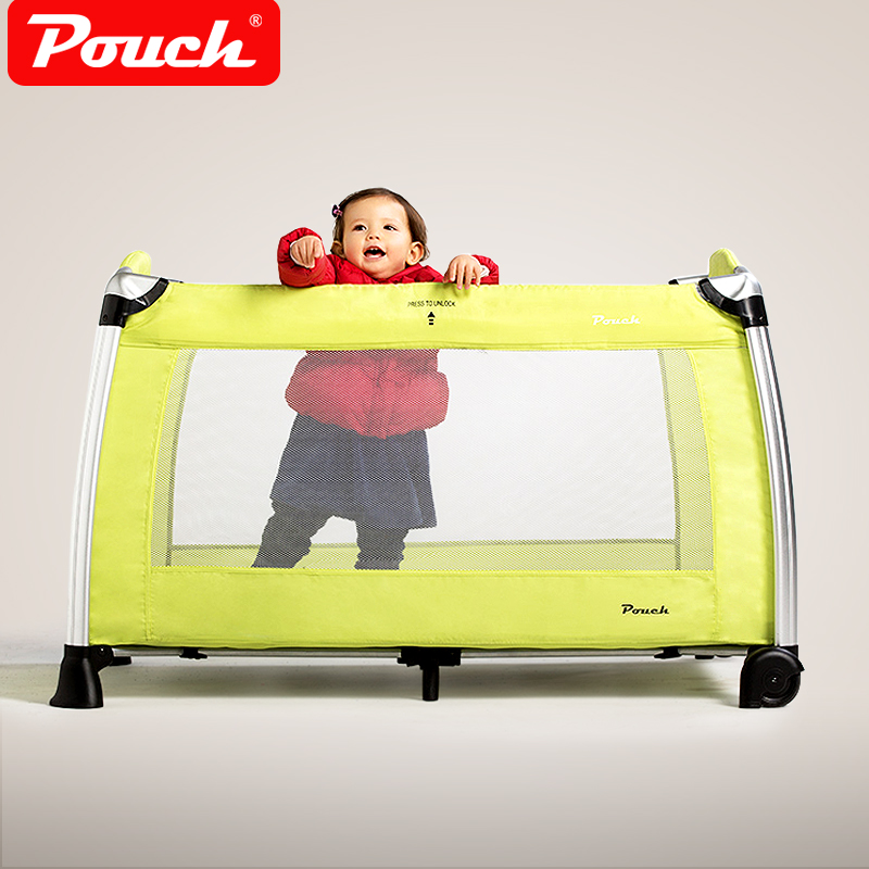 2017 Real Baby Crib Kids Sleeping Bags Pillow Pouch Portable Folding Baby Bed Child Aluminum Alloy Game Multifunctional Bb H13