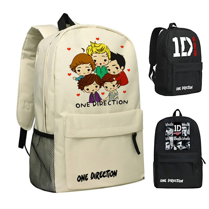 MeanCat One Direction Famous Singer Team Bagpacks Cute Characters of Music Band Large Backpacks imperia music band 2018 05 24t20 00