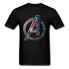 Mannen T-shirt 2018 Avengers Logo Tshirt Infinity Symbool T-shirt 3D Metalen Marvel Tops Captain Tees Fashion Superhero Kleding Venom(China)