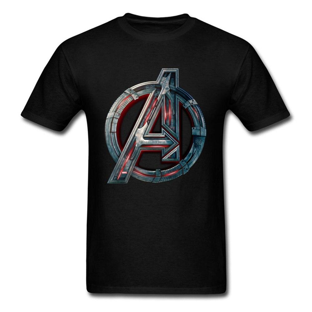 Men T Shirt 2018 Avengers Logo Tshirt Infinity Symbol T-shirt 3D Metal Marvel Tops Captain Tees Fashion Superhero Clothes Venom