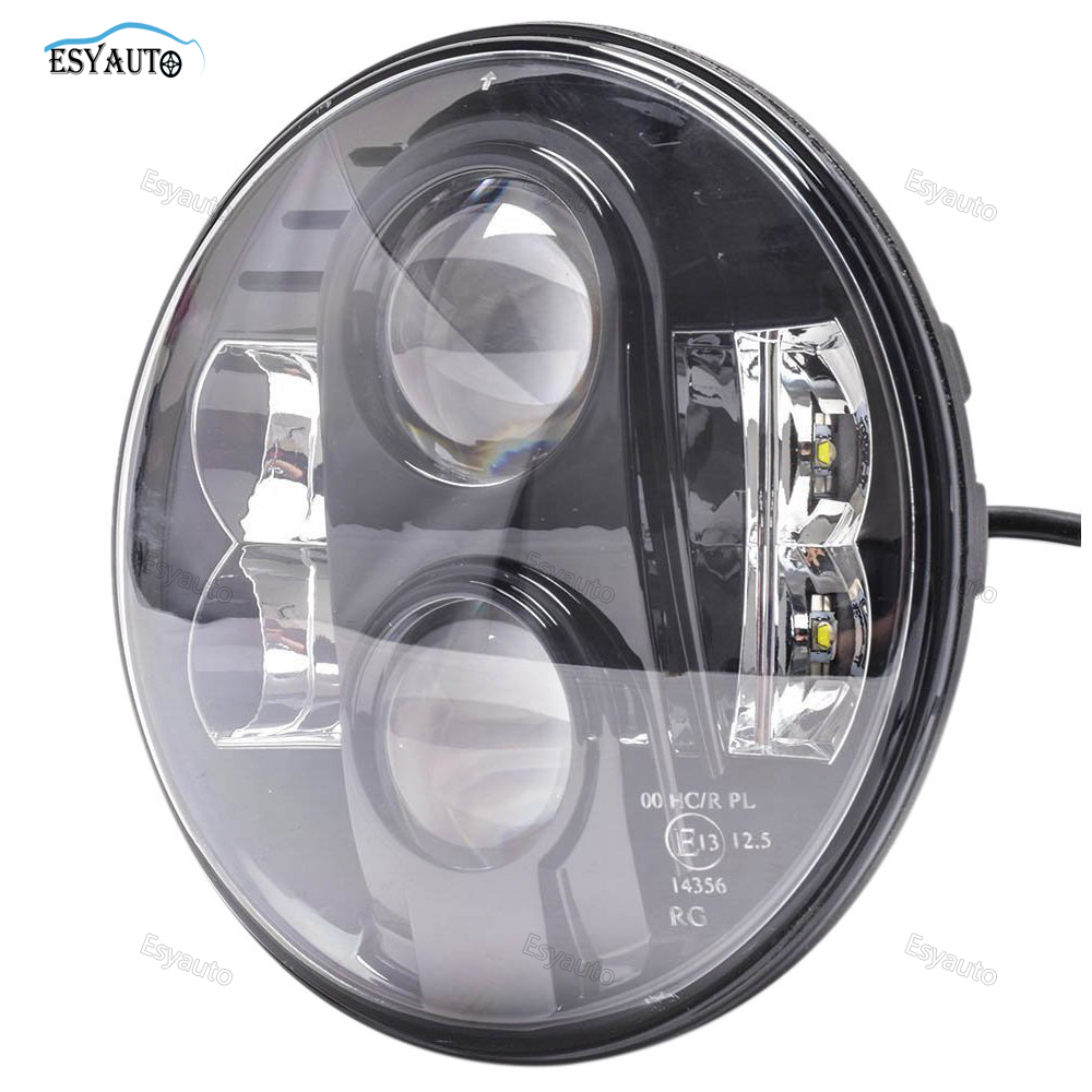 1pcs 7inch hi lo beam H4 LED Motorcycle Headlight E13 Bulbs 7 80W LED Projector Headlight for Harley Motorcycle 7 inch motorcycle led headlight hi lo beam assemblies lamp projector for harley
