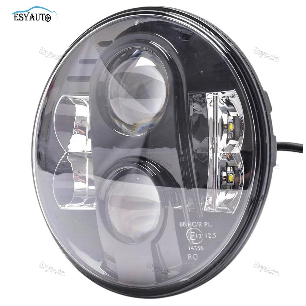 1pcs 7inch hi lo beam H4 LED Motorcycle Headlight E13 Bulbs 7