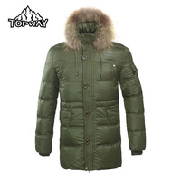 2014 New Men Thick Down Jacket Warm Waterproof Windproof Outdoor Sports Skiing Snowboard 2 COLOR