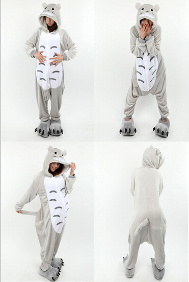 Adult Totoro Onesie Pajamas Unisex Animal Nightwear Sleepwear Totoro Cosplay Costume