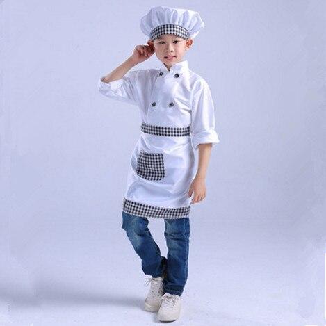 cd66aa2229c Niños chef uniforme cosplay blanco chef ropa para niños chef obras ropa  cocinar disfraz niños en de en AliExpress.com | Alibaba Group
