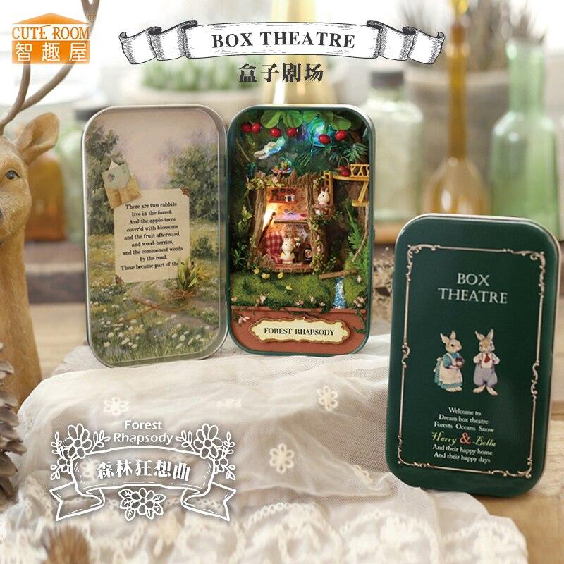 Жиһаз DIY Doll үйі Wodden Miniatura Doll үйлері - Қуыршақтар мен керек-жарақтар - фото 1