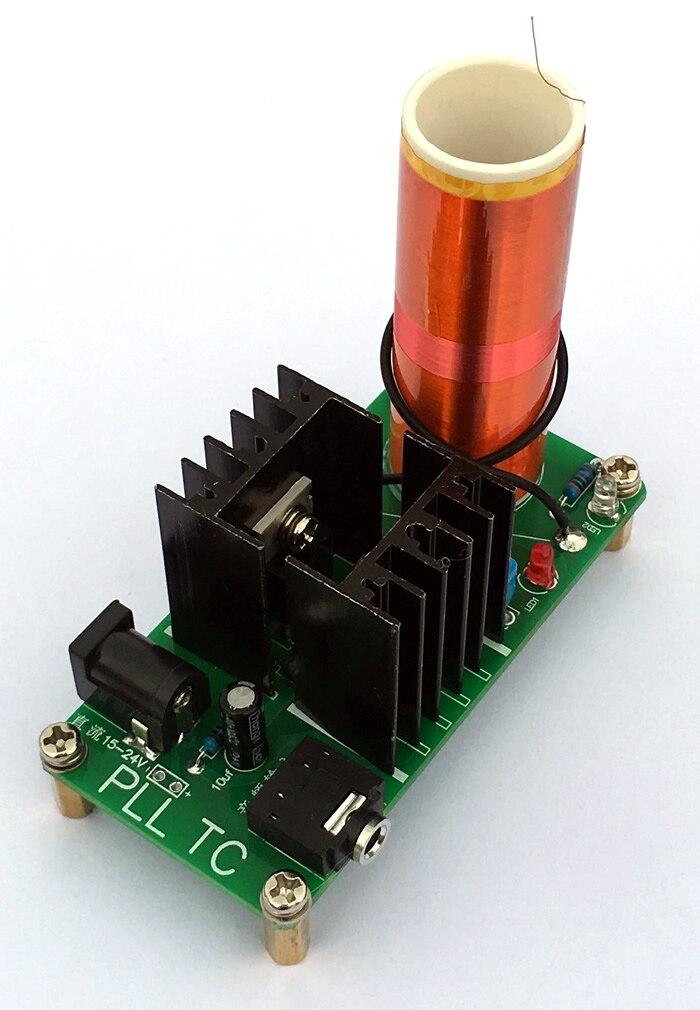 DIY kits 24V 15W Mini Music Tesla Coil Plasma Speaker Tesla Wireless  Transmission Diy Board wholesale