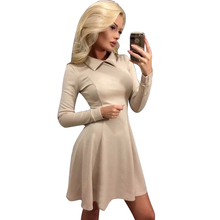 Sexy Frauen antumn Abendgesellschaft Kleid weibliche Mini Clubwear Figurbetontes Stretch Kleid dame Langen Ärmeln Skater Kleid Bandage Kleider