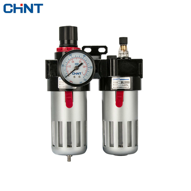 CHINT Pneumatic Pressure Reducing Valve Air Source Treatment Bipolar Oil - Water Separator Filter yuci yuken pressure reducing and relieving valves rbg 03 10 hydraulic valve