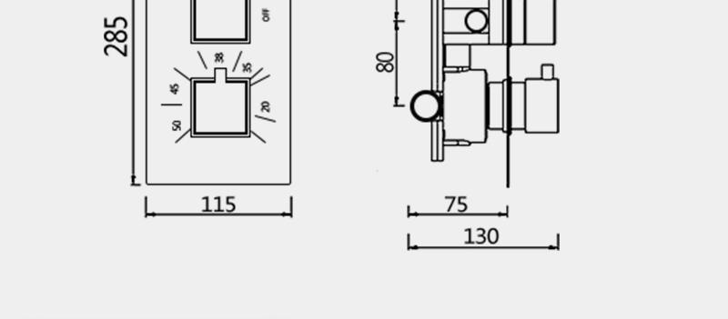 DCAN Bathroom Thermostatic Mixer Valve Brass Chrome Finish Shower Faucet Mixer Valve 3-4 Ways Faucet Bath Faucet Accessories (28)