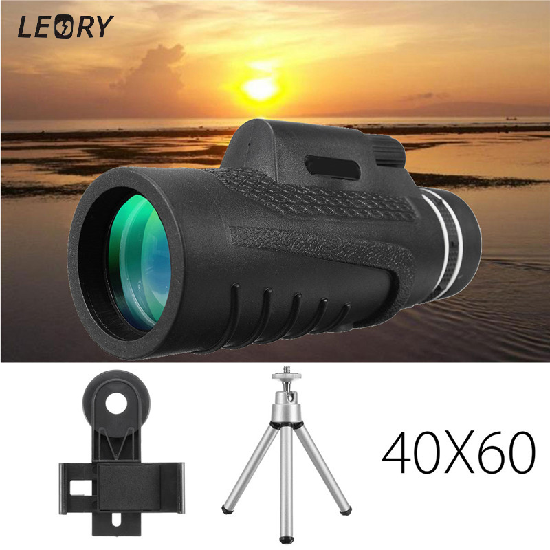 40X60 Camera Telephoto Mobile Phone Lens Clip-on Lens Monocular Phone Camera Lens+Clip+Tripod Portable For iPhone For Samsung